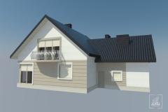 Koncepcja elewacji budynku mieszkalnego - propozycja kolorystyki.