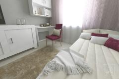 Pokój dla nastolatki w mieszkaniu w bloku. Gorlice, 9,3 m2.