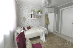Ściana z tapetą w pokoju nadaje pięknego klimatu i równowagi.