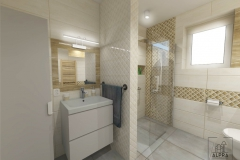 Projekt łazienki z wykorzystaniem płytek Miracle firmy Paradyż.
