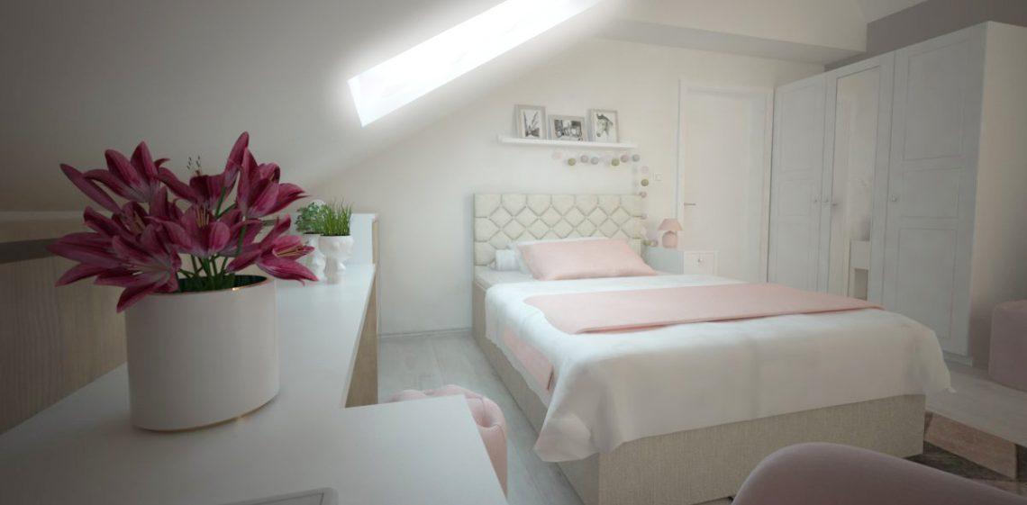 Projektowanie wnętrz, pokoje, sypialnie.