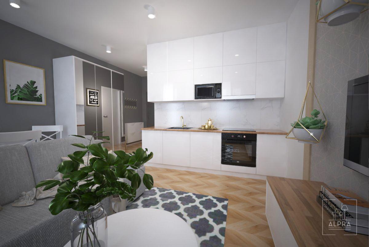Miejsce na przechowywanie w domu. Dzięki wstawieniu w korytarzu dużej 3 drzwiowej szafy (150 cm szerokości) mamy wiele miejsca do przechowywania. Lustrzane fronty optycznie powiększają przestrzeń i rozjaśniają ją.